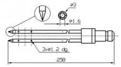 Двойные иглы для инъектора DORIT с треугольным концом диаметр иглы 3 мм длина 258 мм