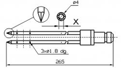Игла для инъектора DORIT двойная треугольный конец диаметр иглы 4 мм длина 265 мм