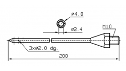 Иглы для инъекторов RUHLE Одинарная диаметр 4(3) мм 200 мм