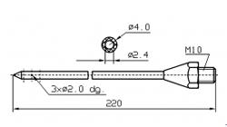 Иглы для инъекторов RUHLE Одинарная диаметр 4(3) мм 220 мм