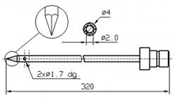 Иглы для инъектора GUENTHER треугольный конец Диаметр иглы 4 мм Длина иглы 320 мм