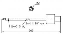Игла для инъектора GUENTHER Диаметр иглы 3 мм Длина иглы 365 мм