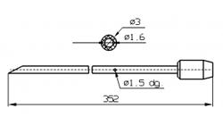 Иглы для инъектора SCHROEDER со скошенным острием диаметр 3 мм длина 352 мм