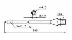 Марка инъектора INJECTSTAR диаметр 4,5 мм длина 240 мм Резьба М10 (под заказ М10х1)