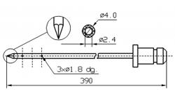 Иглы для инъектора DORIT треугольный конец диаметр иглы 4 мм длина 390 мм