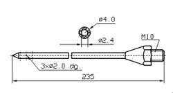 Иглы для инъекторов RUHLE Одинарная диаметр 4(3) мм 235 мм