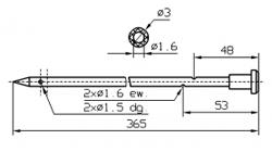 Иглы для инъектора GUENTHER Диаметр иглы 3 мм Длина иглы 365 мм