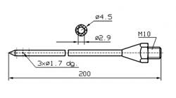 Иглы для инъектора INJECTSTAR диаметр 4,5 мм длина 200 мм Резьба М10 (под заказ М10х1)