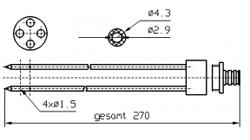 Марка инъектора INJECTSTAR Игла четверная с разборным штуцером диаметр 4 или 3 мм длина 270 мм