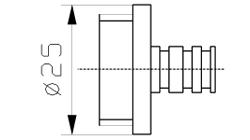 Резьбовая втулка для инъекторной иглы INJECTSTAR