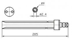 Иглы для инъектора FOMACO скос двойная, диаметр 4 мм, длина 205 мм