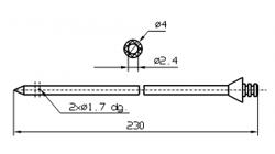 Инъекторная игла SUHNER Диаметр 4 мм, длина 230 мм Штуцер быстросъемный