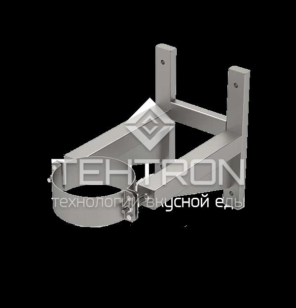 Кронштейн настенный из нержавеющей стали для дымоходных труб дымоходов термокамер Tehtron и их аналогов. Продажа оборудования для термокамер. Завод-изготовитель